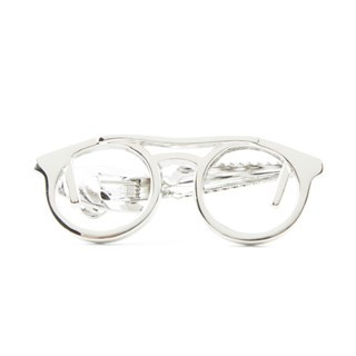 Glasses Silver Tie Bar