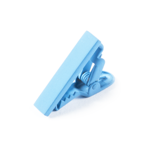Matte Color Light Blue Tie Bar