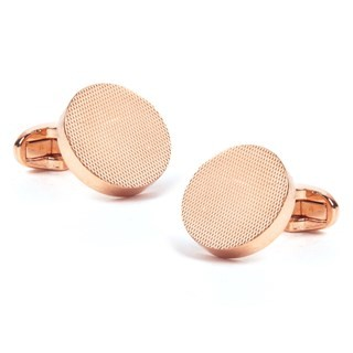 Textured Dial Rose Gold Cufflinks