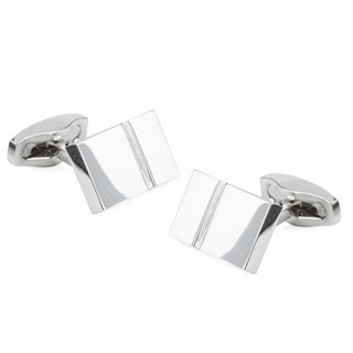 Bricked Silver Cufflinks