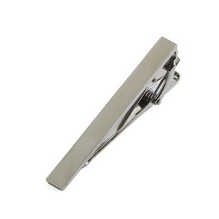Brushed Straight Silver Tie Bar
