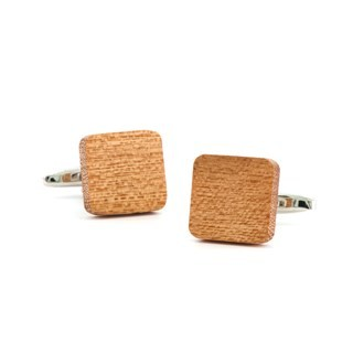 Woodgrain Honey Cufflinks