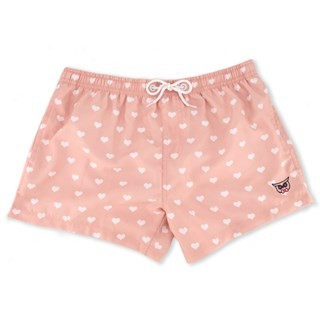 Millennial Pink Love Is Love Swim Trunk