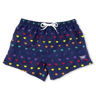 Navy Love Is Love Swim Trunk