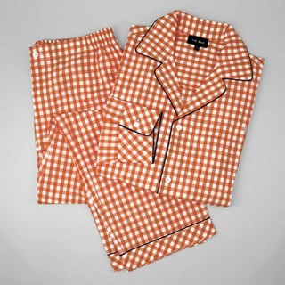 Orange Gingham Pajama Set