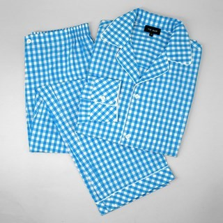 Aqua Gingham Pajama Set