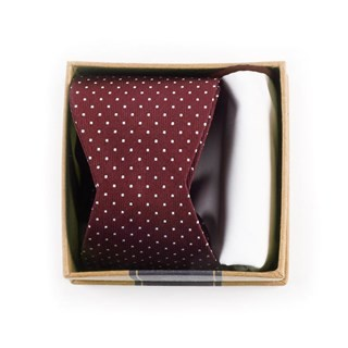Burgundy Bow Tie Box Gift Set