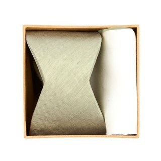 Linen Row Bow Tie Box Sage Green Gift Set