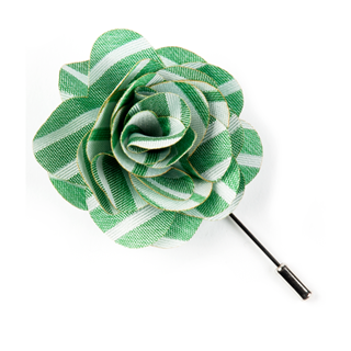 Unity Stripe Apple Green Lapel Flower