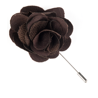 Astute Solid Chocolate Lapel Flower Pin