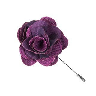 Festival Textured Solid Azalea Lapel Flower Pin