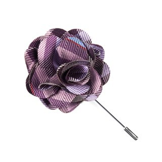 Polo Plaid Plum Lapel Flower Pin