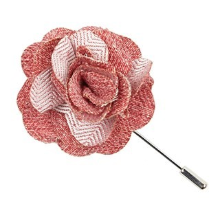 Buff Solid Red Lapel Flower Pin