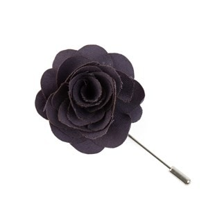 Fall Wool Solid Eggplant Lapel Flower