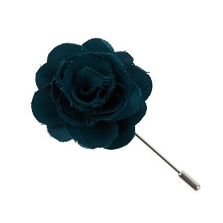 Fall Wool Solid Green Teal Lapel Flower Pin