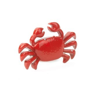 Boston Crab Silver Lapel Pin