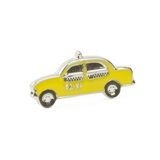 Nyc Taxi Silver Lapel Pin
