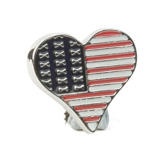 Usa Flag Pin Silver Lapel Pin