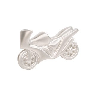 Motorcycle Silver Lapel Pin