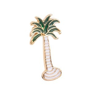 Palm Tree Gold Lapel Pin
