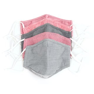 Red 5 Pack Cotton Face Mask