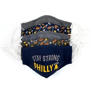 Navy 5 Pack Cotton Philly Face Mask