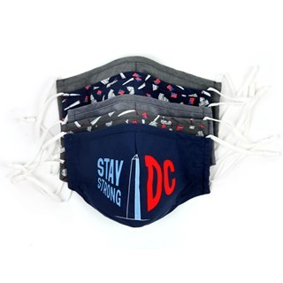 Navy 5 Pack Cotton Dc Face Mask