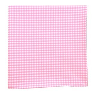 Petite Gingham Pink Pocket Square