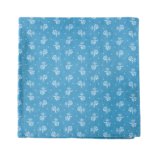 Bluegrass Floral Light Blue Pocket Square