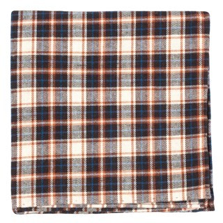Central Park Plaid Brown Pocket Square