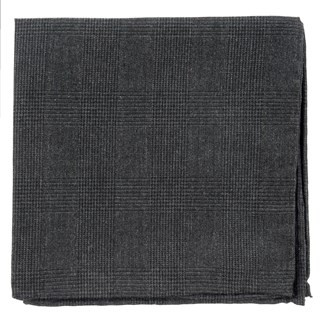 Cotton Glen Plaid Charcoal Pocket Square