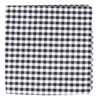 Gingham Shade Midnight Navy Pocket Square
