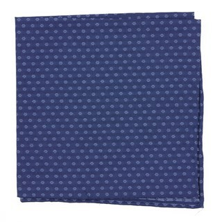 District Geo Navy Pocket Square