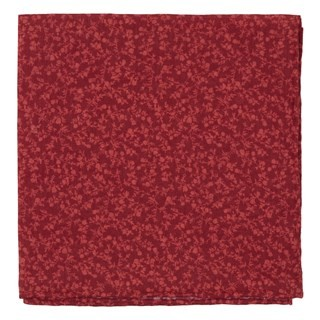 Floral Webb Red Pocket Square