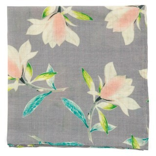 Mumu - Lily Showers Soft Steel Pocket Square
