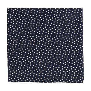 Animated Hearts Navy Pocket Square
