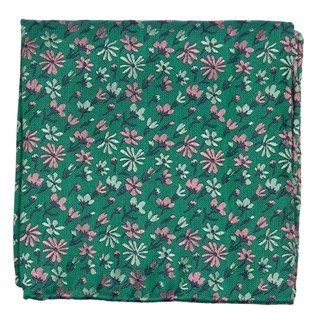 Daffodil Garden Green Pocket Square