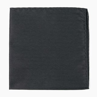 Mumu Weddings - Desert Solid Black Pocket Square