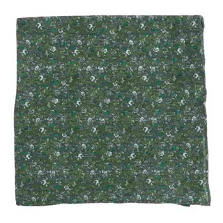 Wild Rosa Olive Green Pocket Square