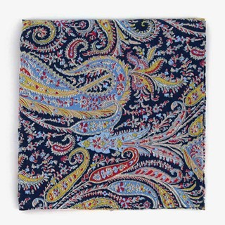 Liberty Felix And Isabelle Navy Pocket Square
