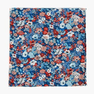 Liberty Thorpe Hill Classic Blue Pocket Square