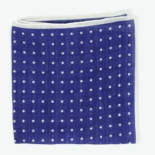 Bali Dots Blue Pocket Square