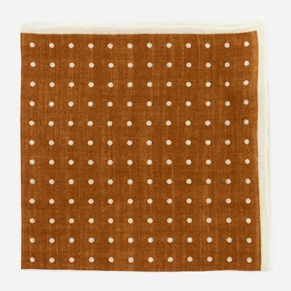Bali Dots Burnt Orange Pocket Square
