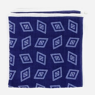 Bali Medallion Blue Pocket Square