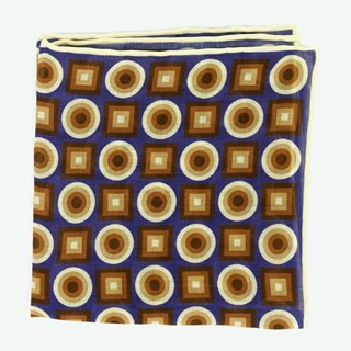 Bali Retro Blue Pocket Square