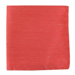 Fountain Solid Coral Pocket Square
