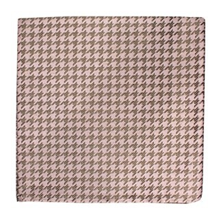 White Wash Houndstooth Soft Pink Pocket Square