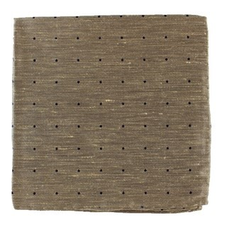 Bulletin Dot Tan Pocket Square