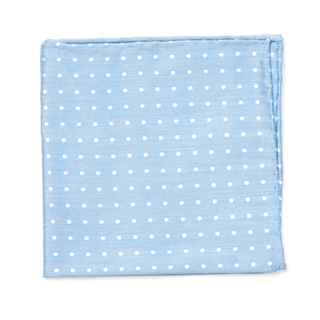Dotted Dots Light Blue Pocket Square