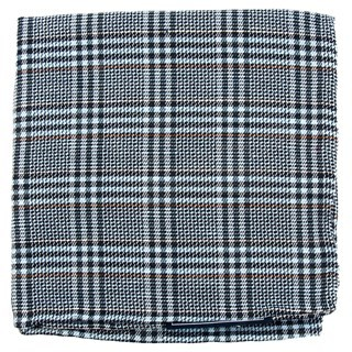 Columbus Plaid Light Blue Pocket Square